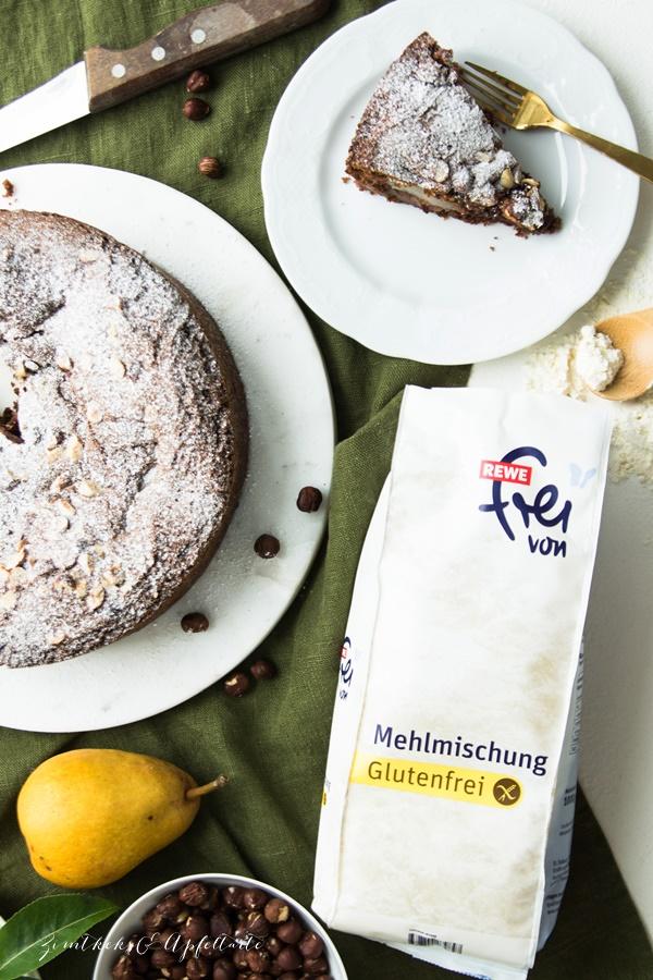 Einfacher Glutenfreier Birnen Schokoladenkuchen