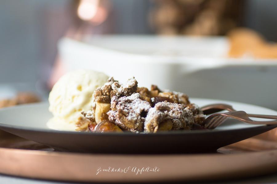 Herbst-Crumble oder Zwetschgen-Crumble mit Walnüssen - lecker und einfach