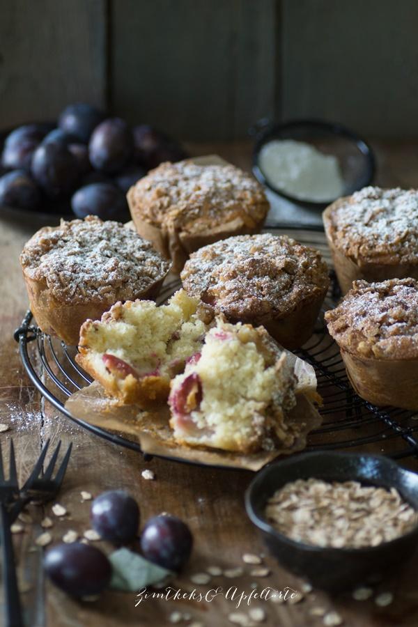 Zwetschgen-Joghurt-Muffins - Kristallzuckerfrei - ZimtkeksundApfeltarte.com