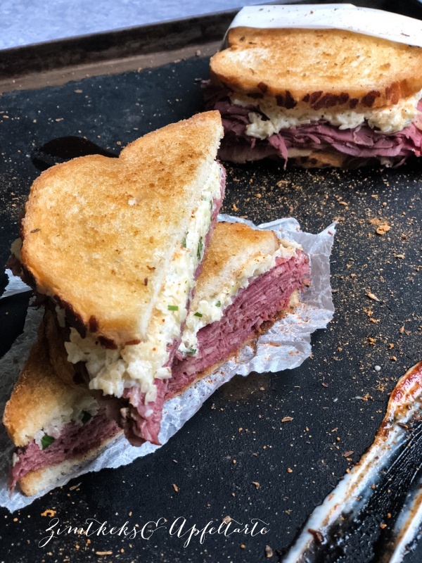 Pastrami-Sandwich - ZimtkeksundApfeltarte.com