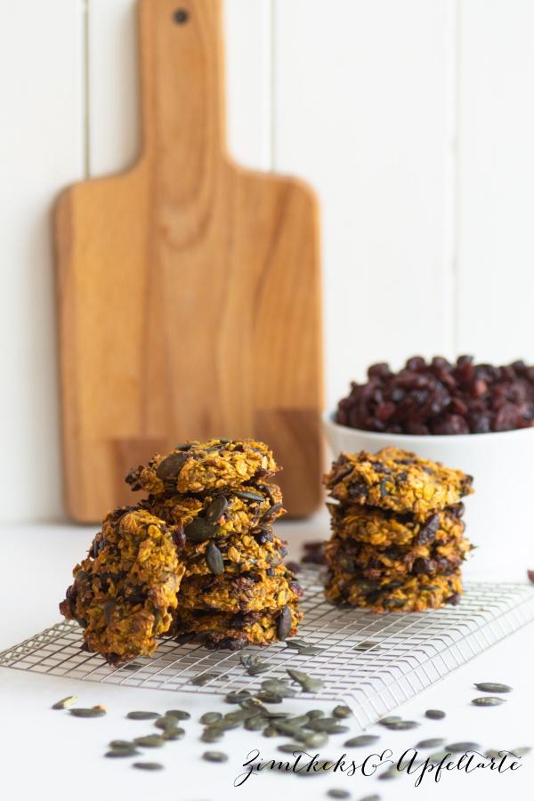 Einfaches und schnelles Rezept für Canberry-Kürbis-Cookies
