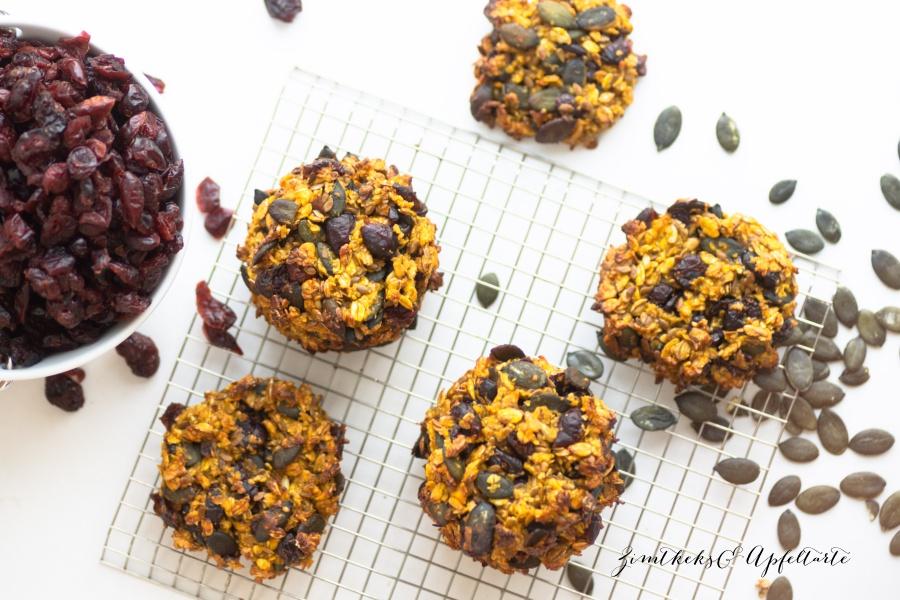 Cranberry-Kürbis Cookies - einfaches Rezept