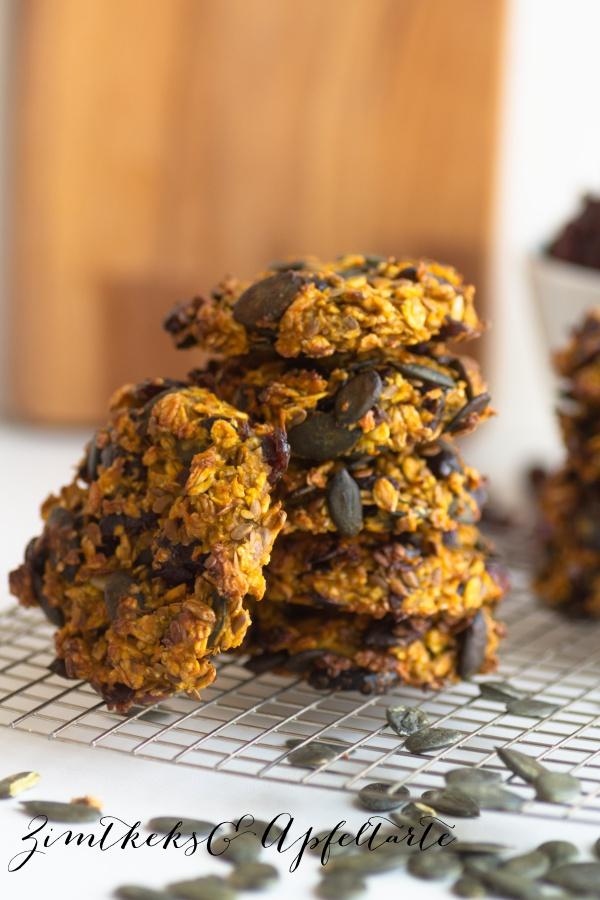 Rezept für einfache Cranberry-Kürbis-Cookies