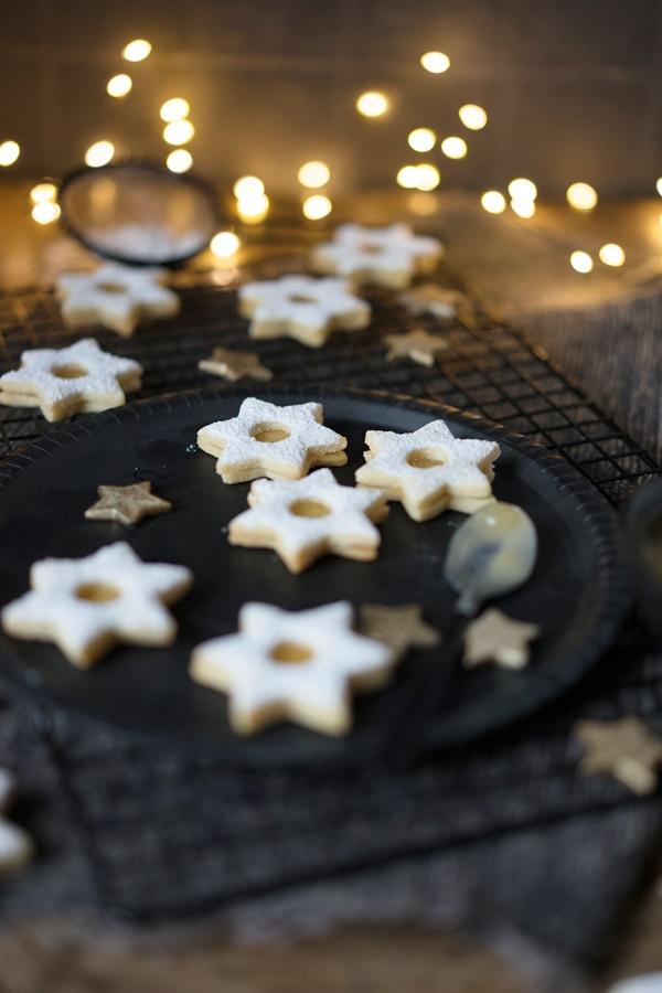 My best of .... Weihnachts-Plätzchen-Rezepte - Spitzbuben mit Lemon Curd