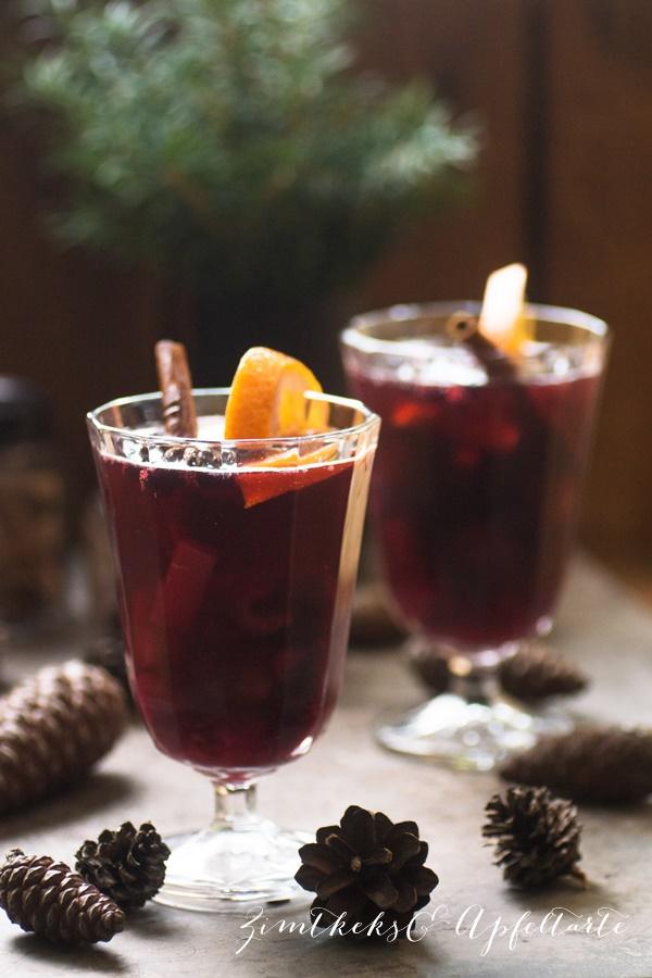 Advents-Bowle mit Früchten - einfach und lecker