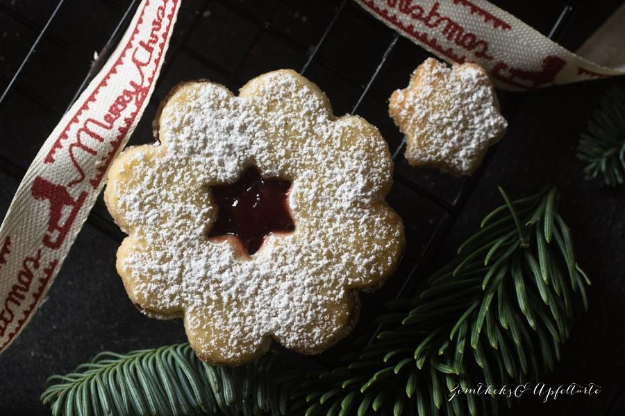 Feine Linzer-Plätzchen mit Marmelade - super lecker