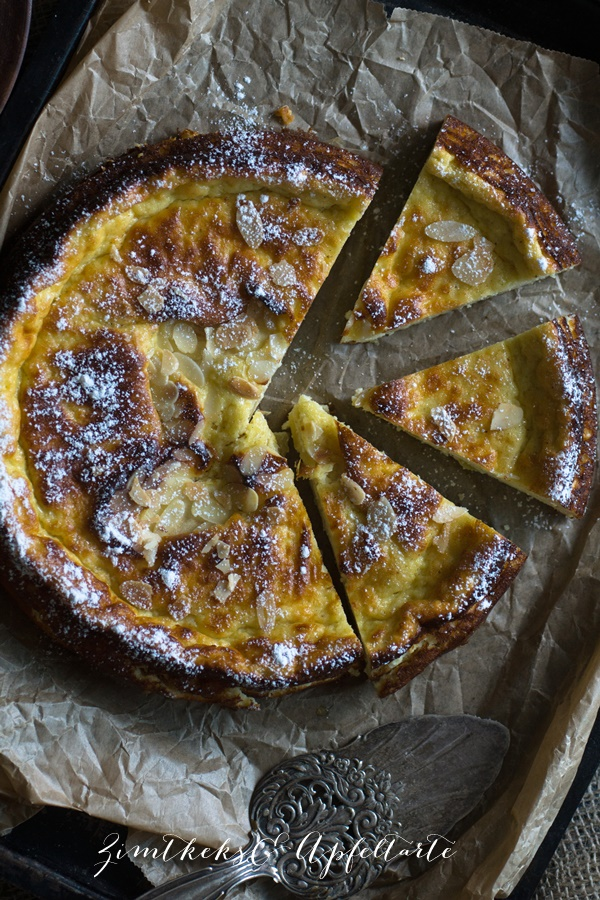 Low Carb Käsekuchen ohne Boden mit Apfel - ZimtkeksundApfeltarte.com