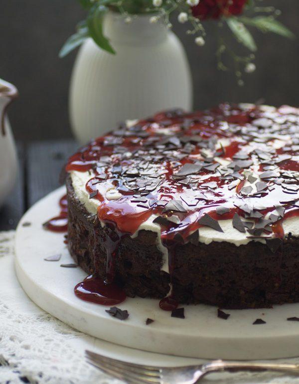 Saftiger Und Einfacher Schokoladen Kirsch Kuchen Im Schwarzwälder