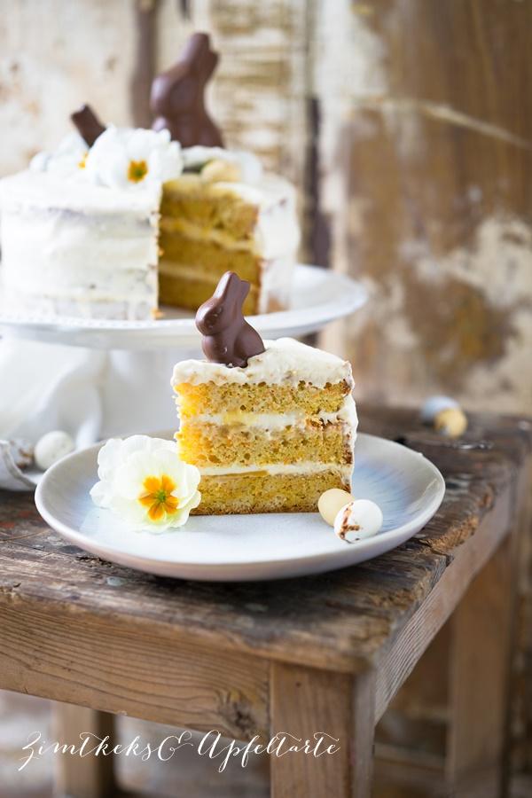 Lecker und einfach: Rübli-Eierlikör-Torte - Karottenkuchen mit Eierlikörsahne