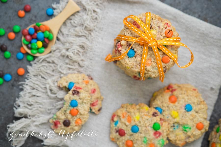M&M-Cookies mit Haferflocken - einfach und lecker
