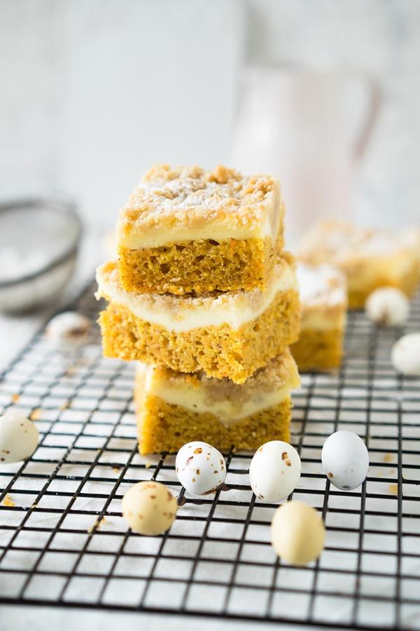 Rübli-Cheesecake mit Streuseln - Carrot-Cheesecake - einfaches Rezept