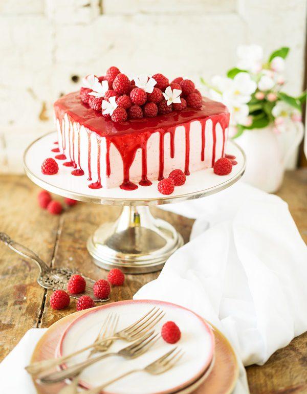 Dessert mit himbeeren und mascarpone