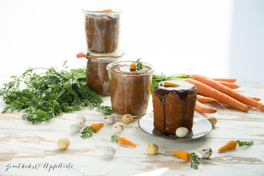 Saftiger Rüblikuchen im Glas oder Karottenkuchen to go - zimtkeksundapfeltarte.com