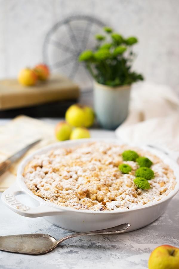 Apple Crumble Pie – Apfelkuchen mit Streuseln