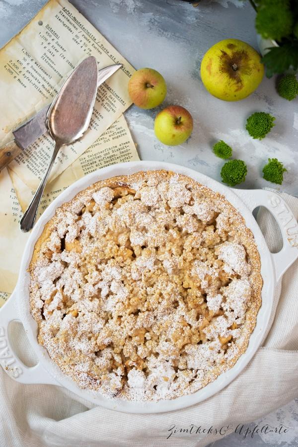 Apple Crumble Pie - einfach und lecker - tolles Rezept von Zimtkeksundapfeltarte.com