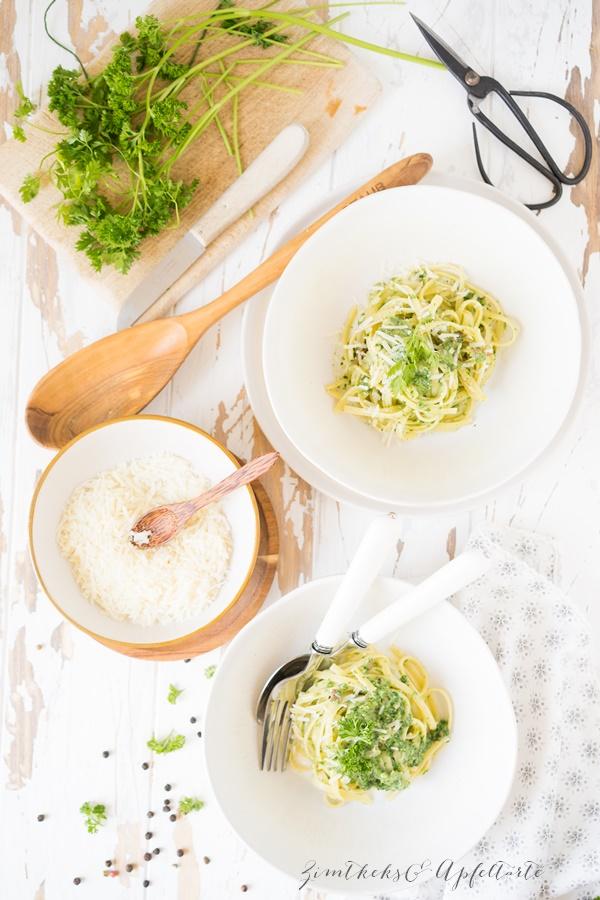 Frankfurter Grüne Soße Spaghetti Carbonaran - ZimtkeksundApfeltarte.com