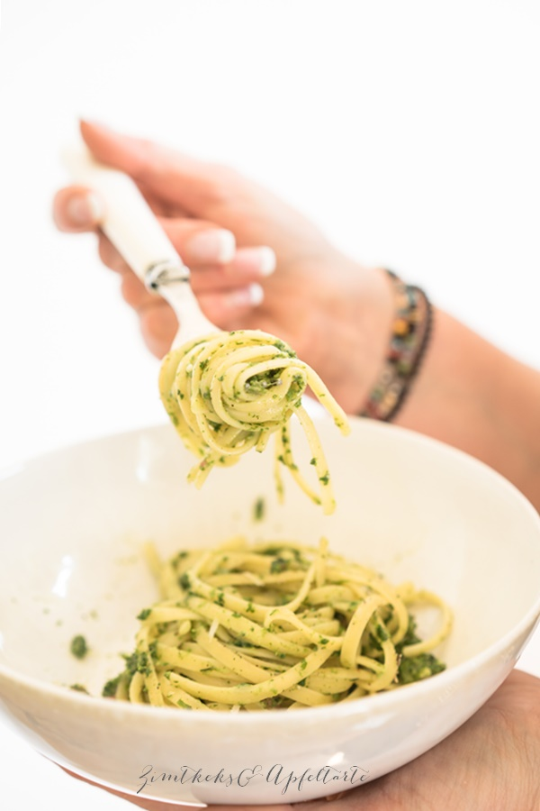 Frankfurter Grüne Soße Spaghetti Carbonara - ganz einfach und lecker