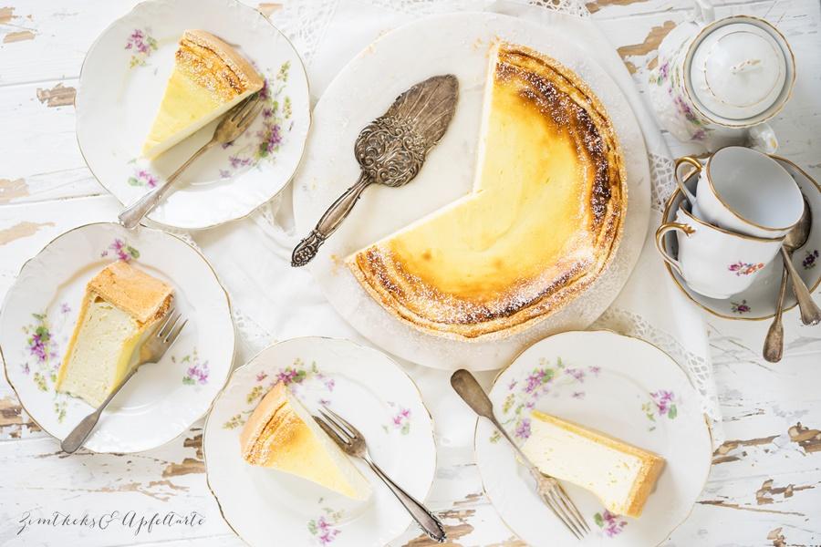 Klassischer cremiger Käsekuchen - einfach und lecker