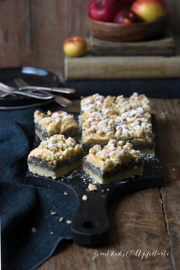 Köstlich backen mit Äpfeln - Andrea Natschke-Hofmann - ZimtkeksundApfeltarte.com Apfel-Mohnkuchen mit Streuseln