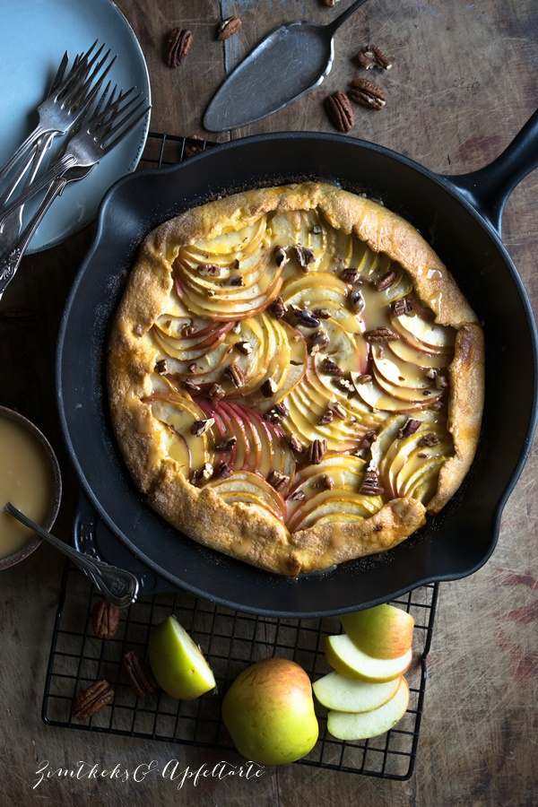 Köstlich backen mit Äpfeln - Andrea Natschke-Hofmann - ZimtkeksundApfeltarte.com - Apfel-Galette