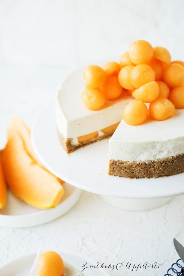 No bake Joghurt-Frischkäse-Limetten-Törtchen mit Melone ZimtkeksundApfeltarte.com