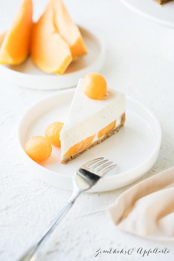 No bake Joghurt-Frischkäse-Limetten-Törtchen mit Melone - lecker und einfach