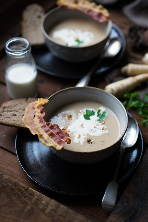 Maronensuppe mit karamellisierten Nüssen und Speck - Mom's cooking friday - Zimtkeks und Apfeltarte