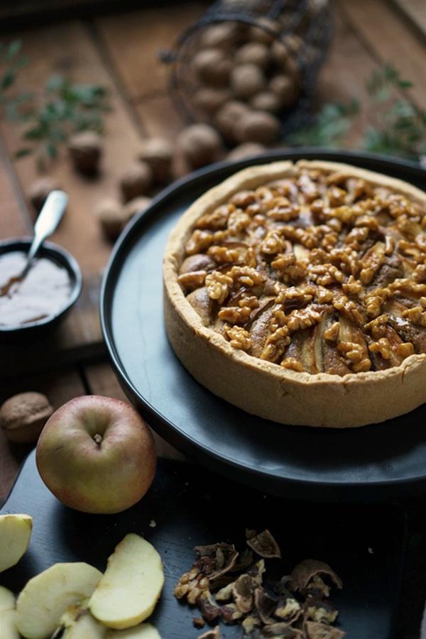 Apfel-Walnusskuchen mit karamellsierten Walnüssen - Zimtkeks und Apfeltarte
