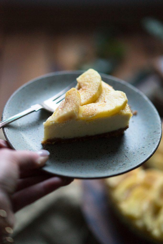 Karamell Apfel Cheesecake - Caramel Apple Cheesecake - ganz einfach selber backen