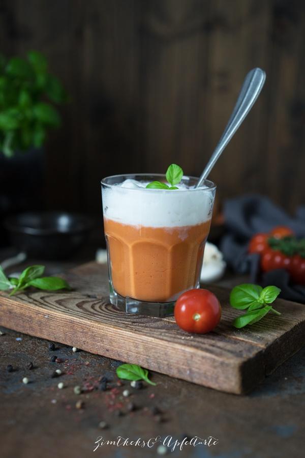 Tomaten-Cappuccino - einfach, schnell und lecker - Rezept von ZimtkeksundApfeltarte.com