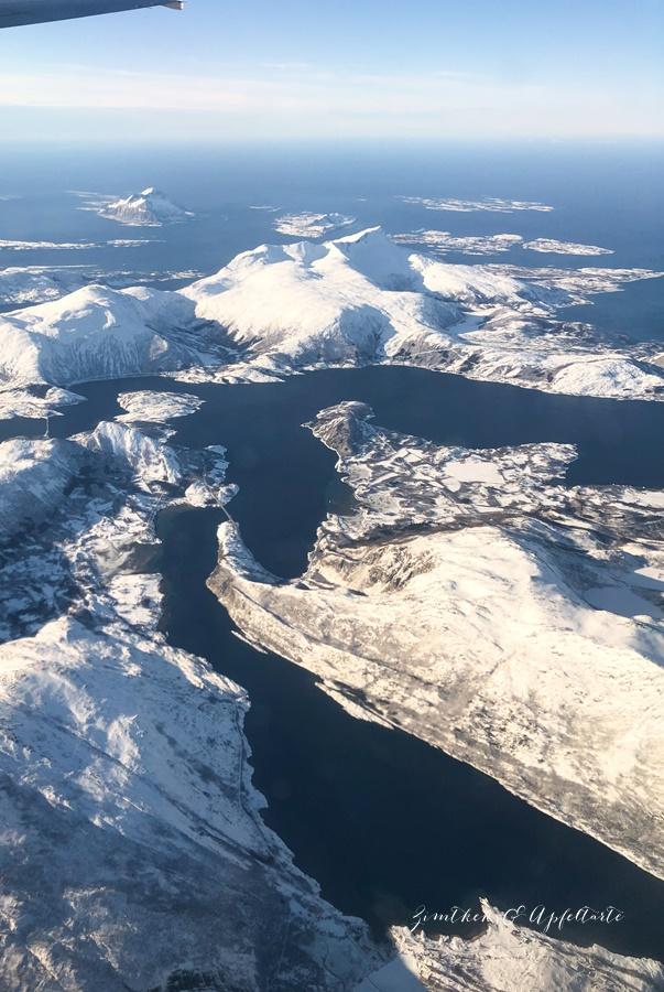 Meine Reise zu Lofoten und zum Skrei-Fischen - Ausblick vom Flugzeug