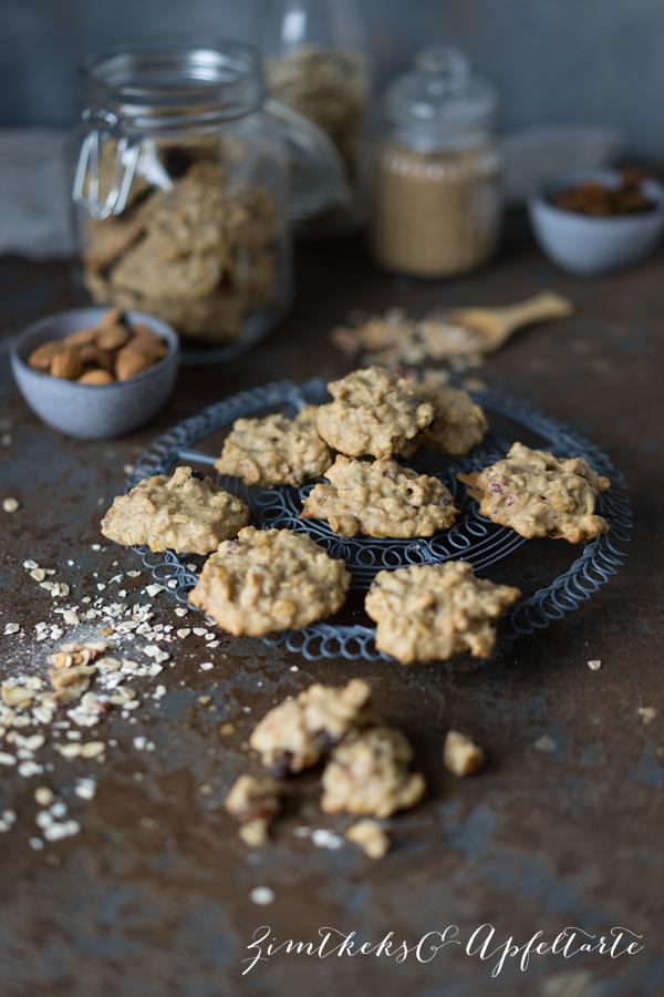Vegane, super easy Müsli Cookies - einfach, schnell und gelingsicher