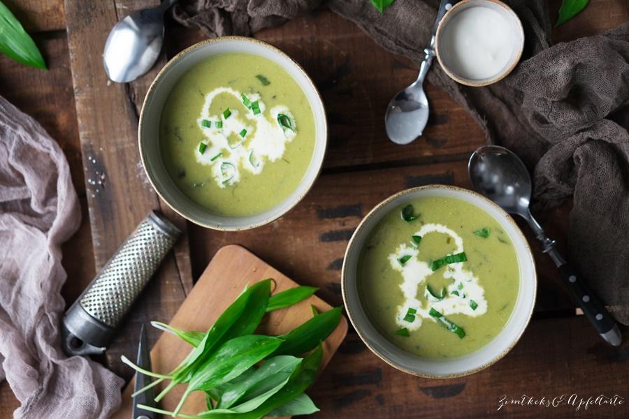 Veganes Bärlauch-Süppchen mit Erbsen - easy und gelingsicher, in wenigen Minuten fertig
