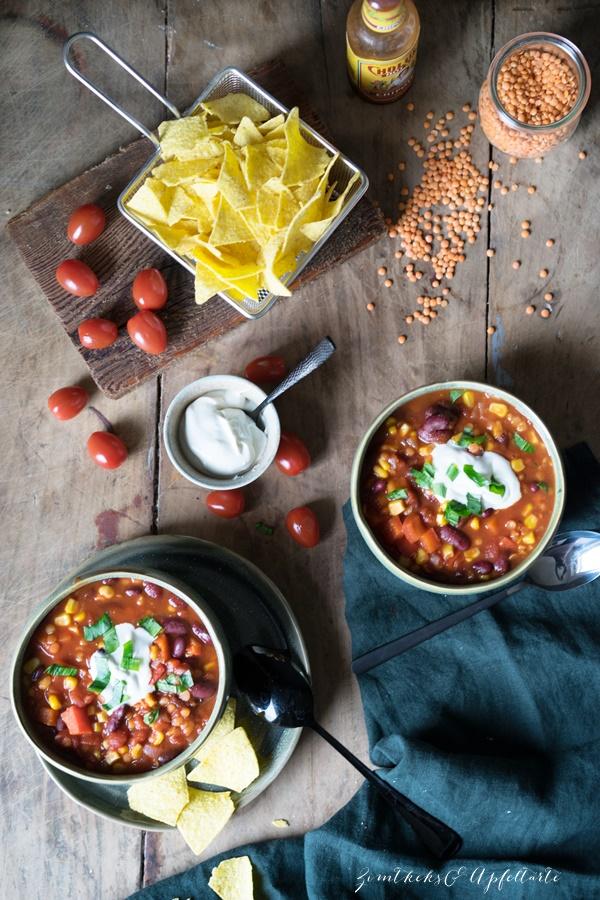 Veganes Chili sin carne – Lieblingsessen geht auch ohne Fleisch!