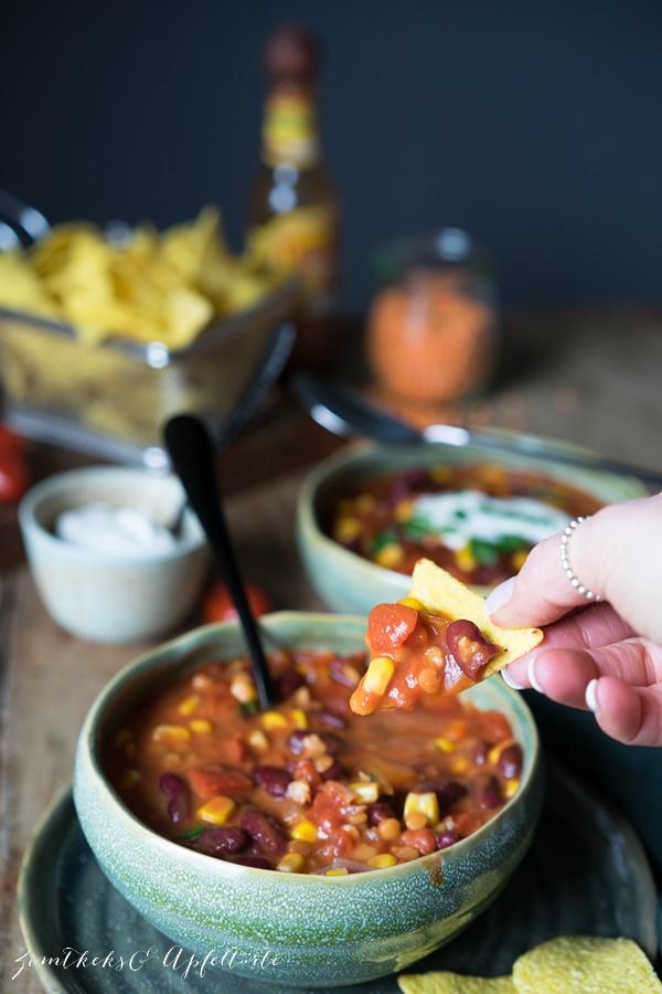 Chili sin carne - vegan, vegetarisch einfach und lecker