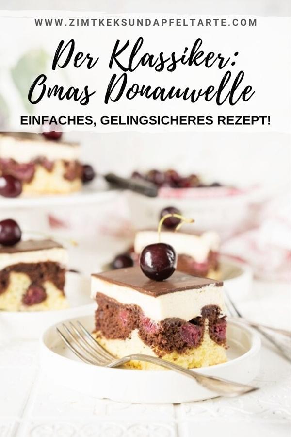 Omas klassische Donauwelle - ganz einfaches Rezept mit Vanille-Buttercreme - Schneewittchenkuchen selber backen!