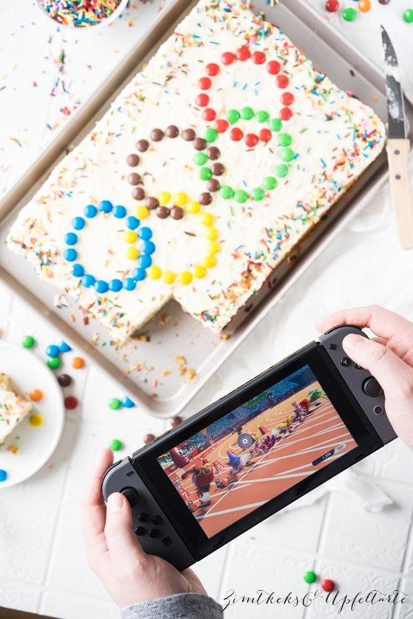 Funfetti-Kuchen - Sprinkle Cake - für die Kids-Party - ganz einfach und schnell