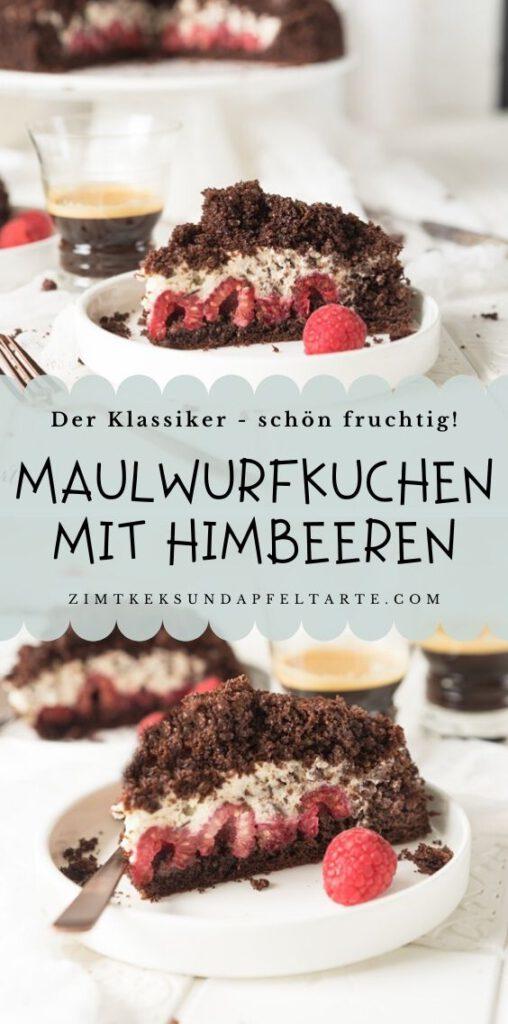 Einfaches und leckeres Rezept für den Klassiker Maulwurfkuchen - köstlich fruchtig mit Himbeeren.