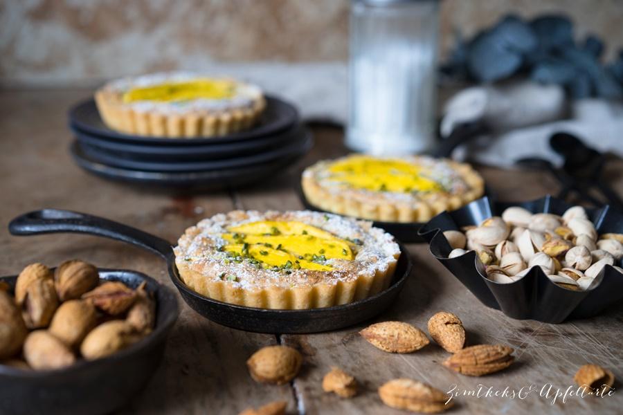 Mango-Tartelettes mit Pistazien-Mandel-Frangipane einfaches Rezept