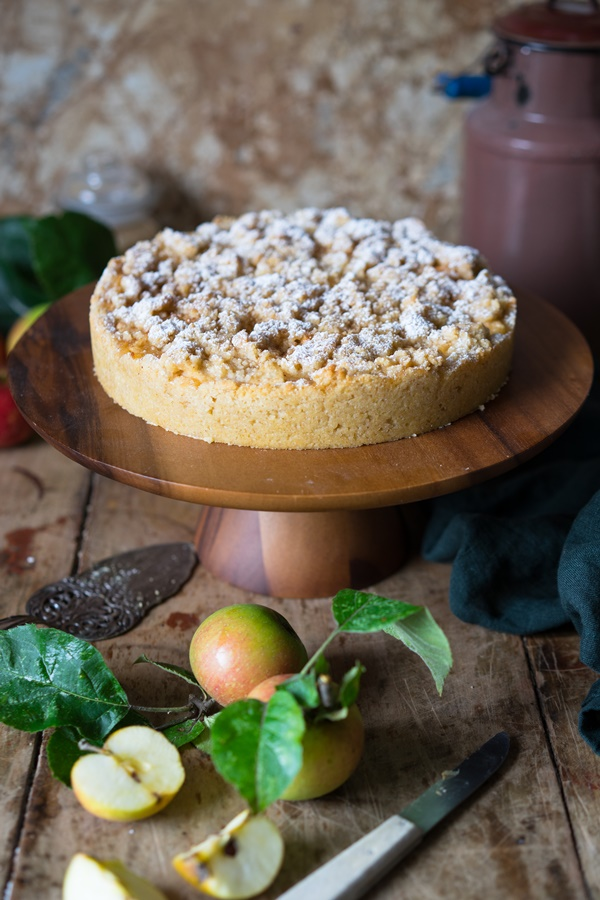 Omas blitzschneller Apfelkompott-Streuselkuchen