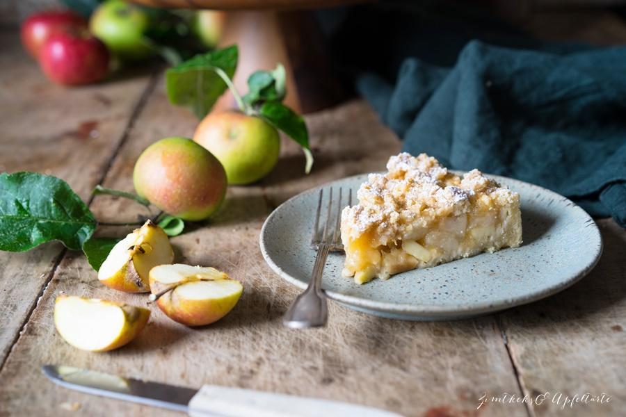 Ganz einfach und gelingsicher - Omas blitzschneller Apfelkompott-Streuselkuchen