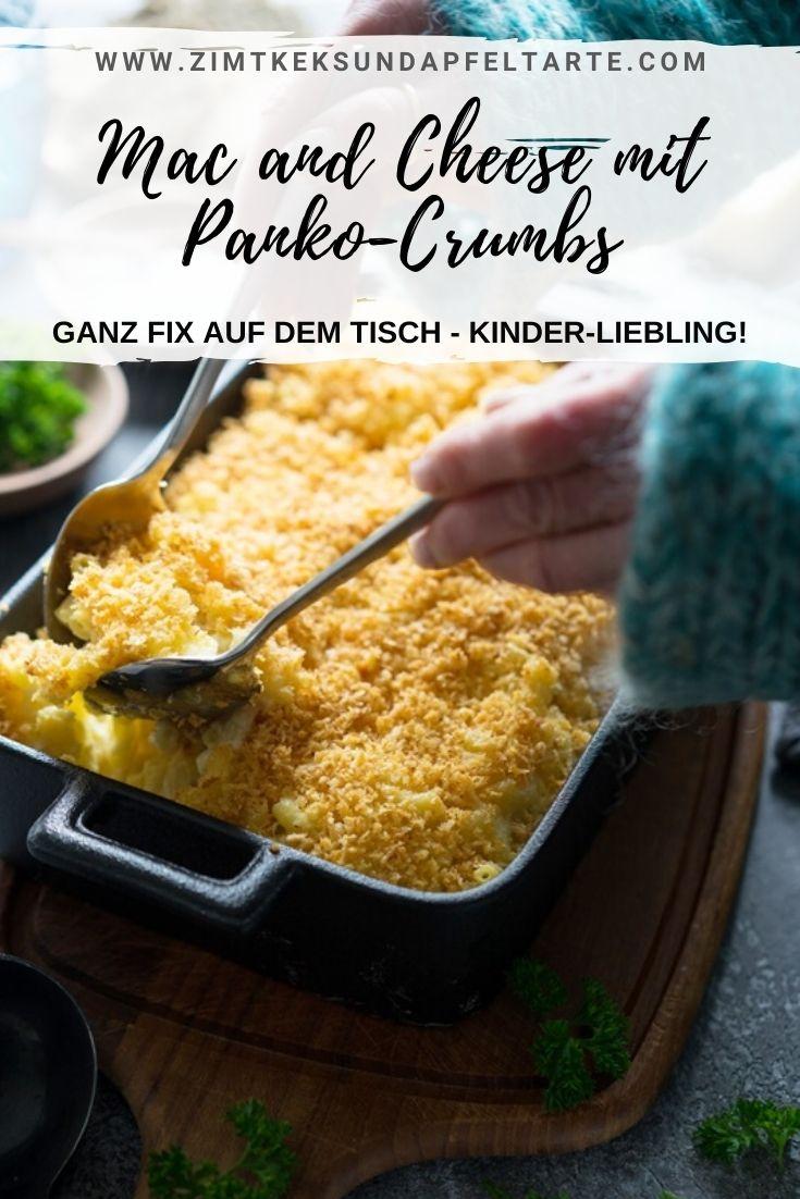 Überbackene Mac and Cheese mit Panko-Crumbs - ganz einfaches und schnelles Gericht. Der Liebling vieler Kinder, ganz fix auf dem Tisch und absolut gelingsicher.