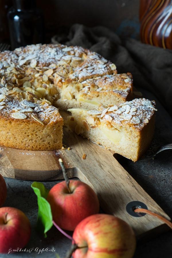 Einfaches und schnelles Rezept für Zimt-Apfelkuchen
