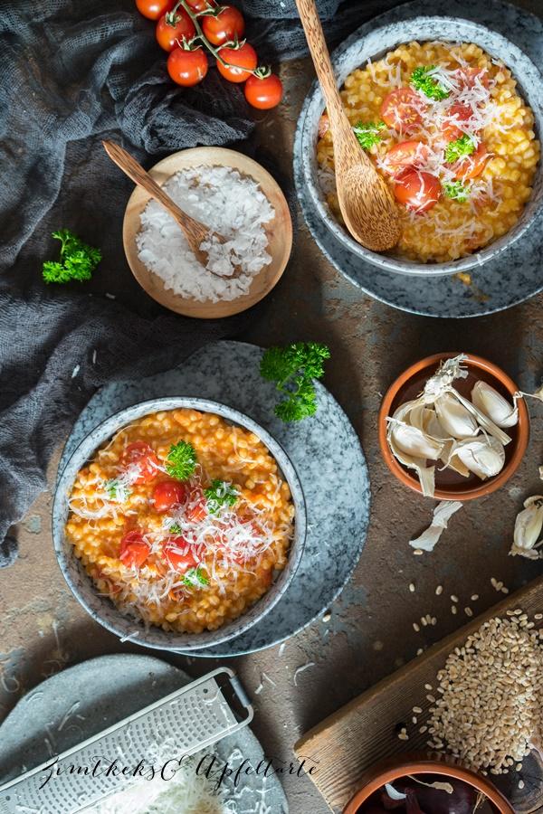 Tomaten-Dinkelrisotto - leckeres und einfaches Rezept