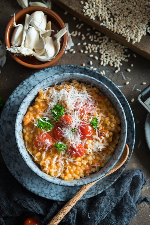 Ganz einfaches und gelingsicheres Rezept für Tomaten-Dinkelrisotto