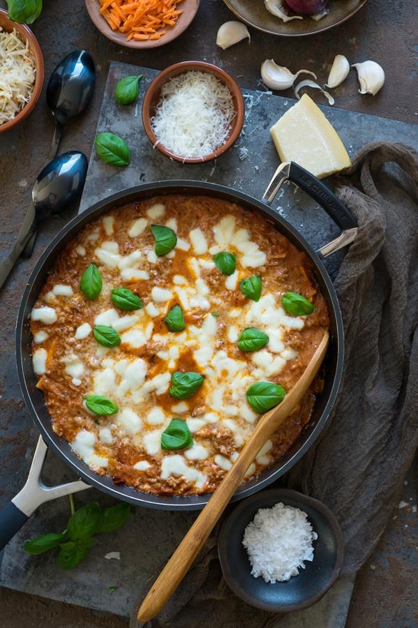Blitz-Lasagne - ganz einfach aus der Pfanne - einfach und gelingsicher