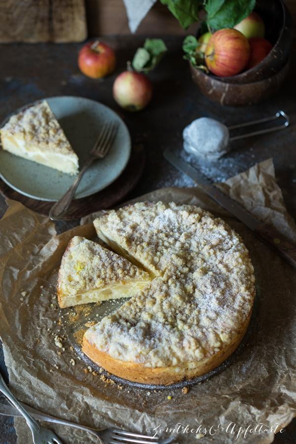 Skyr-Apfelkuchen mit Zimtstreuseln - ganz einfaches Rezept