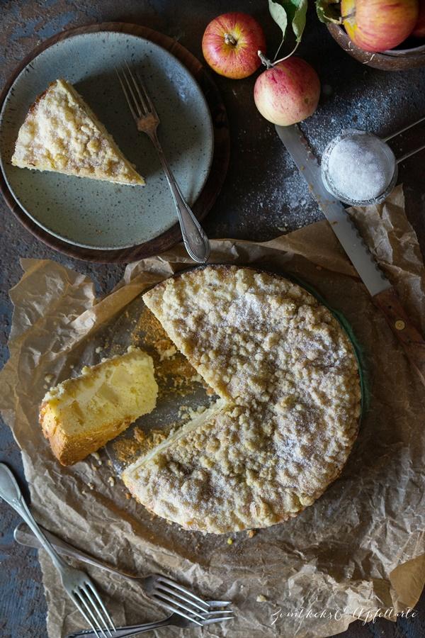 Skyr Apfelkuchen mit Zimtstreuseln - einfaches und gelingsicheres Rezept