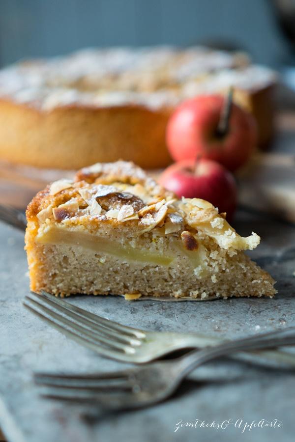 Zimt-Apfelkuchen - einfaches und schnelles Rezept