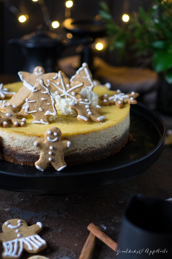 Cremiger Spekulatius-Cheesecake mit Orange - einfaches und gelingsicheres Rezept